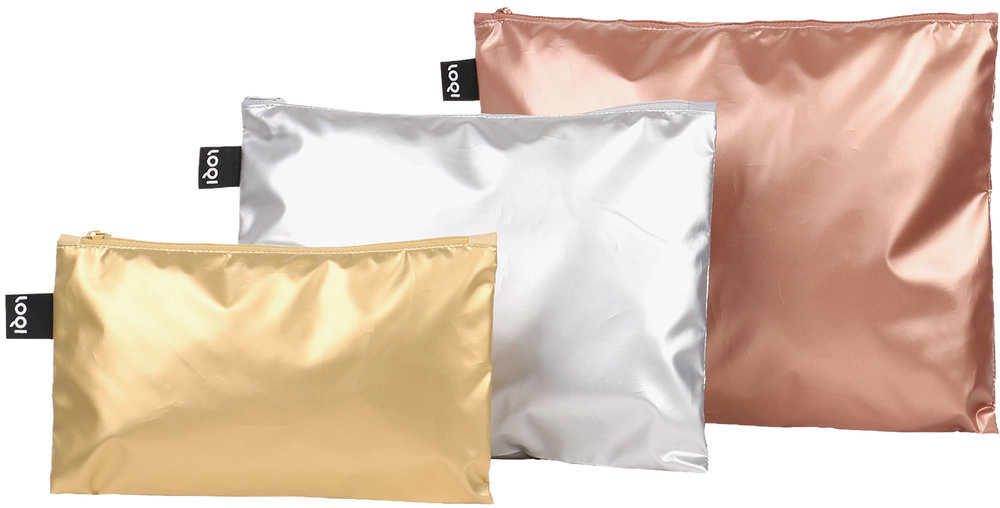 "LOQI Zip Pockets ""Gold, Silver, Rose"""